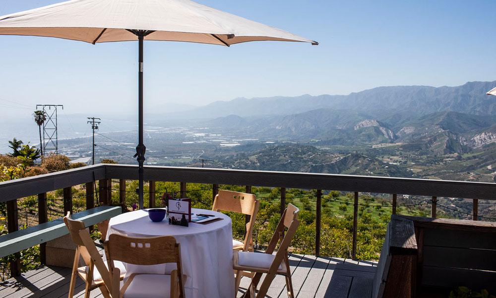 Views overlooking the Santa Barbara Coast from the Rincon Mountain Winery
